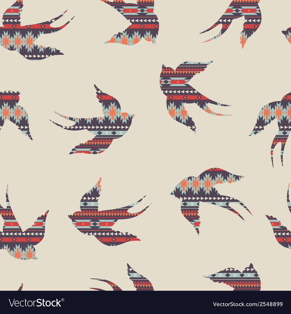 Seamless colorful decorative ethnic pattern with vector | Price: 1 Credit (USD $1)
