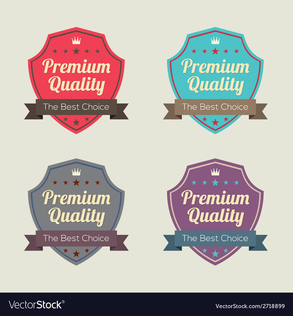Set of vintage retro labels vector | Price: 1 Credit (USD $1)