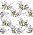 Seamless wallpaper with violet flowers vector