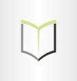 Book or notebook reading icon design vector