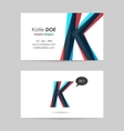 Business card template - letter k vector