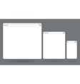 Flat blank browser windows for different devices vector