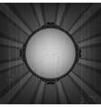 Retro frame on old grunge background vector