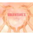 Retro holiday background with hands making a heart vector