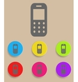 Mobile phone - icon with color variations vector