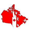 Canadian hand signal vector