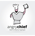 Abstract chef logotype isolated on white vector