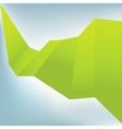Origami speech bubble  eps8 vector