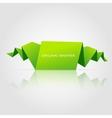 Abstract green origami speech bubble vector