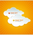 Abstract paper cloud like speech bubble vector