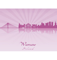 Warsaw skyline in purple radiant orchid vector