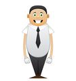 Happy office worker vector