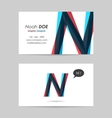 Business card template - letter n vector