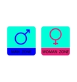 Men and women sign icons - vector