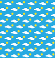 Seamless pattern of a day vector