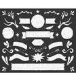 Chalkboard design elements banners and badges set vector