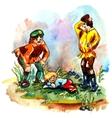 Men and hobbit vector