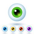 Set of cartoon colorful eyes vector