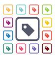 Tag flat icons set vector