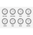 Time zone world vector