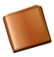 A topview of a brown wallet vector