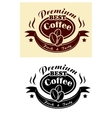 Premium coffee banner vector