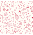 Seamless pattern with birthday elements birthday vector