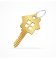 House key isolated on white vector