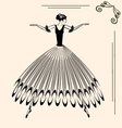 Image of ballet woman vector