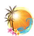 Round palm vector
