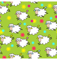 Seamless background with sheep vector