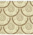 Seamless geometric pattern in fish scale design vector