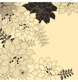 Stylish floral beige background vector