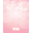 Pink abstract bokeh background soft focus vector