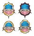 Usa vintage emblems vector