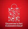 Shopping bag for valentines day vector