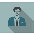 Businessman web icon vector