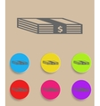 Set of flat colored simple web icons bundle of vector