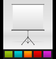 White board empty space vector