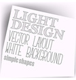 Simple layout vector