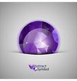 Triangles ball purple vector