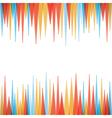 Abstract sharp zig-zag border style background vector