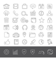 Line icons web vector