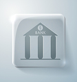 Bank building glass square icon vector
