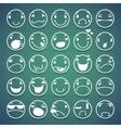 Cartoon facial espressions icons set vector