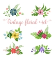 Flowers design set of floral icon vector