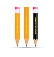 3d pencils icon vector