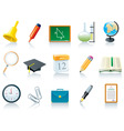 Education school icons vector