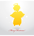 Angel card square 12 vector