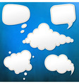 Blue grunge texture with speech bubble vector